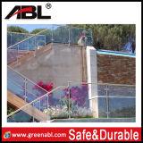 Frontière de sécurité en verre extérieure de regroupement d'acier inoxydable