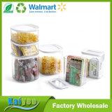 Envases de almacenaje al por mayor de los bocados del cuadrado de la promoción con la tapa clara
