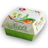 Rectángulo blanco Eco-Impreso de la hamburguesa/rectángulo de la ensalada/rectángulo de papel de la comida