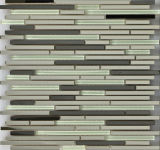 Diseño del azulejo especial de acero inoxidable $ Crystal Glsaa mosaico de decoración de la pared (FYMG037)