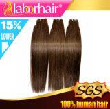 Colorer les cheveux de Remy d'humain de #4 directement 100% de trame