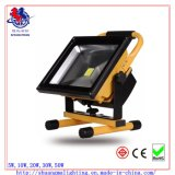 세륨 RoHS Waterproof 5hrs Portable Rechargeable 20W LED Flood Light