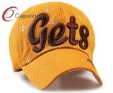 bordado 3D del algodón de la gorra de béisbol de la manera