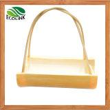 De de met de hand gemaakte Natuurlijke Mand van het Bamboe/Pot van de Bloem van het Bamboe