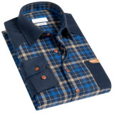 Camicia di vestito dall'assegno del cotone dei nuovi uomini di disegno di modo