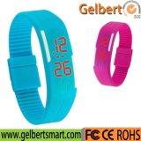 Dattel-Armband-Digital-Sport-Armbanduhr des Gelbert Mann-Frauen-Gummi-LED wasserdichte