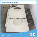 Популярный белый Countertop камня кварца для ванной комнаты