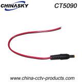 ピグテール(CT5090)が付いている5.5X2.1mmの男性CCTVのDC電源のコネクター