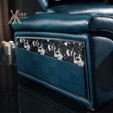 زرقاء حديثة جلد ثبت أريكة مع يخزّن فراغ (862)