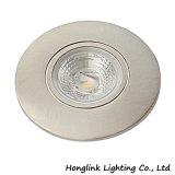 Luz Recessed diodo emissor de luz branca redonda do gabinete da ESPIGA do alumínio 4W da qualidade
