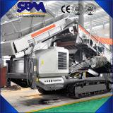 Trituradora portable de Sbm, planta móvil de la trituradora del cono