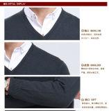 Maglione/vestiti/indumento/lavori o indumenti a maglia lunghi del manicotto del pullover del collo delle lane/cachemire V dei yak