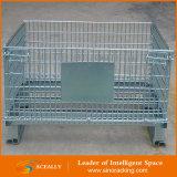 Apilable venta al por mayor del almacenaje del metal del acoplamiento de alambre de contenedores