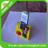 Горячая стойка мобильного телефона силиконовой резины надувательства