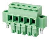 bloco terminal Pluggable elétrico aprovado do PWB do VDE do UL de RoHS do passo de 5.0mm