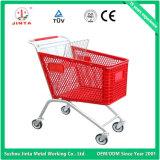 Qualidade superior todo o trole plástico da compra do supermercado (JT-E02)