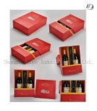 Estampage chaud pour les boîtes-cadeau de empaquetage de vin rouge