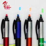 Stylo bille promotionnel d'écran tactile de vente en gros de crayon lecteur de barre de mise en valeur de prix bas sur la vente