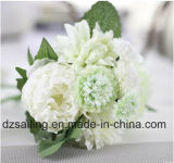 Flor artificial de la decoración del ramo del Peony y de la dalia (SF16399)