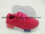 Los zapatos de la inyección de la lona de los niños, atan para arriba los zapatos del deporte con el OEM