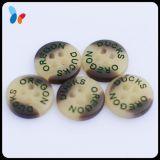 Кнопка смолаы полиэфира кнопки отверстий пластмассы 4 логоса лазера для рубашки