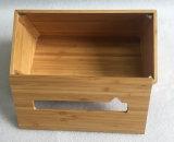 الخيزرانيّ خشبيّة نسيج صندوق