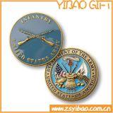 Monete militari del metallo di alta qualità della fabbrica con il bordo di turbinio (YB-c-016)