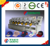 Máquina automatizada 6 pistas del bordado para la industria plana del bordado de los casquillos de la camiseta