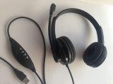 Auscultadores prendido estereofónico do computador dos auriculares do USB com alta qualidade