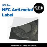 Papel revestido ISO14443A Ultralight do Tag 13.56MHz do Anti-Metal de Nfc