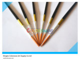 6PCS Wooden Handle Nylon Liner Hair Artist Brush in PVC Bag per Painting e Drawing (colore di Black)