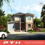 Casa de acero moderna estándar del chalet de China con talla modificada para requisitos particulares
