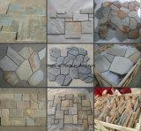 Natürlicher rostiger unregelmäßiger Steinschiefer-Felsen für die Pflasterung