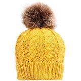 Крышка Headwear Beanie шлема Knit руки с шерстью POM POM