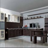 Welbom 2016 L tradicional armário da cozinha da madeira contínua da forma