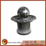 Fontaine noire de boule de l'eau de jardin de granit