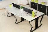 Muebles de oficinas de madera 2 asientos L sitio de trabajo de la partición de la oficina de la dimensión de una variable (SZ-WST719)