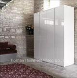 خزانة ثوب بيضاء عال لامعة بالجملة مع يدار باب ([هف-يك002])