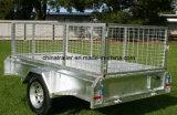 De heet-ondergedompelde Gegalvaniseerde volledig Gelaste Aanhangwagen van de Doos 7X4 voor Verkoop