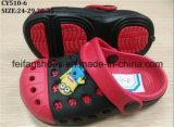 Chaussures mignonnes de jardin d'enfants de modèle simple avec le prix préférable, poussoirs de plage d'EVA, entraves occasionnelles