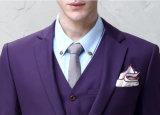 Terno magro do ajuste do Mens formal puro do terno de vestido dos homens de lãs