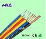 OEM/ODM 구리, 까만 PVC에 의하여 격리되는 도관 Bvr/BV 전기선 300/500V 볼트 1.5mm 2mm 3mm 4mm