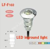 LfF102のLED Ingroundの軽い屋外の壁ランプの屋外の照明一定IP67は白く涼しく白く赤い青緑を暖める