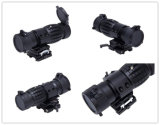 3X-Fts tattico Magnifier Scope Sight con Flip a Side Mount
