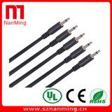 1/8 '' mâle sonore mono de solides totaux de 3.5mm aux câbles mâles