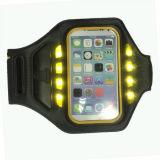 Caja ligera del teléfono del brazal del LED promocional para la caja del teléfono