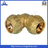 Encaixe de tubulação de bronze da compressão do acoplamento do cotovelo (YD-6046)
