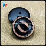 Кнопка 2 отверстий имитационной кожи естественная деревянная