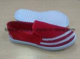 Zapatos al aire libre ocasionales de los zapatos de lona de la inyección de los hombres con PVC Outsole