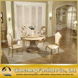 Ouro luxuoso de Rosa que pinta a tabela de jantar do aço inoxidável